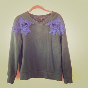 J. Crew flower embroidery sweatshirt